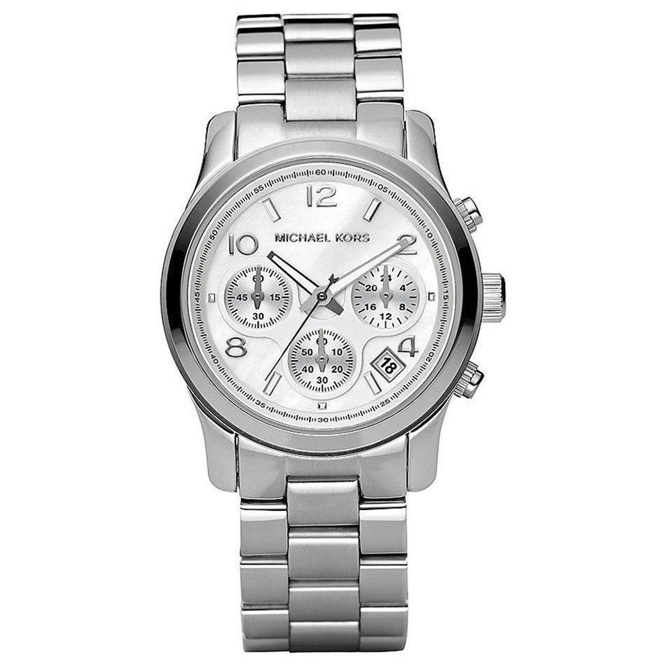 Michael Kors MK5304 Ladies Silver Chronograph Watch - TheWatchCabin - 1