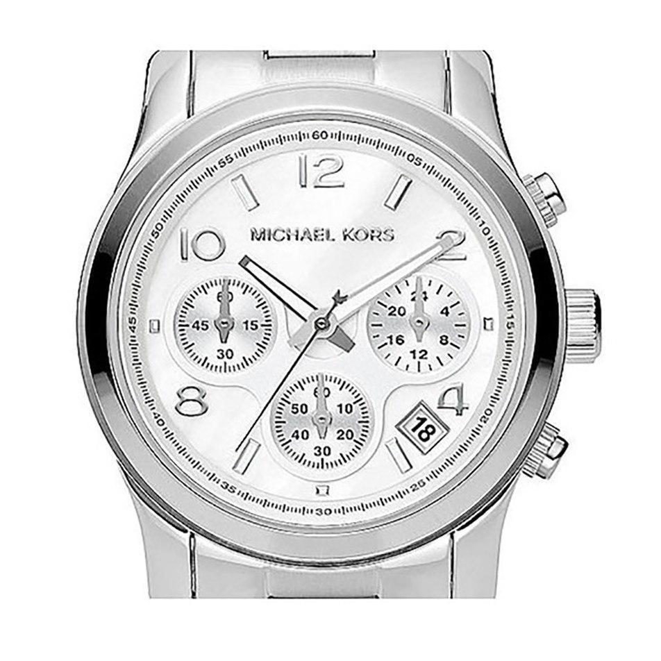 Michael Kors MK5304 Ladies Silver Chronograph Watch - TheWatchCabin - 2
