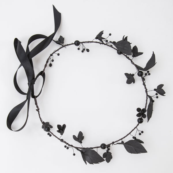 Black flower wreath
