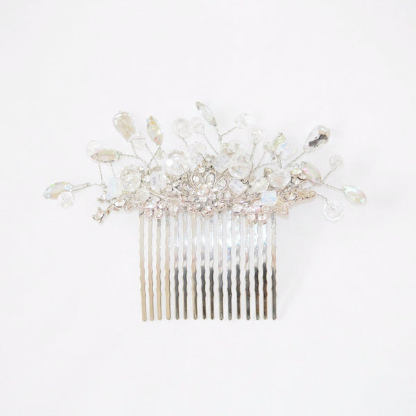 Crystal hair comb with rhinestones
