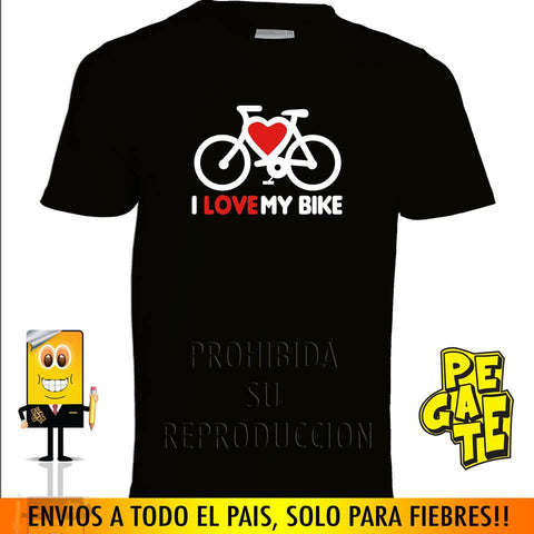 PCPE001 - Camiseta Ciclismo I love my bike