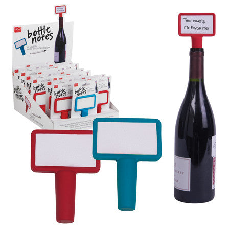 CVIN027 - Tapón p/ botellas c/ mini pizarra p/ notas reusable (Bottle Notes) - Producto de Diseñador