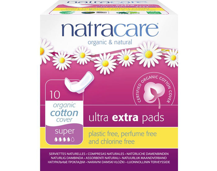Serviettes ULTRA EXTRA SUPER en coton bio (10) - Natracare - Ma Belle Nature