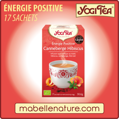 Énergie Positive Canneberge Hibiscus - Infusion Yogi Tea - Ma Belle Nature