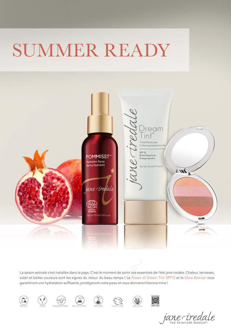 SUMMER READY |DREAM TINT® + Poudres bronzante +hydratation Spray | Jane Iredale - Ma Belle Nature
