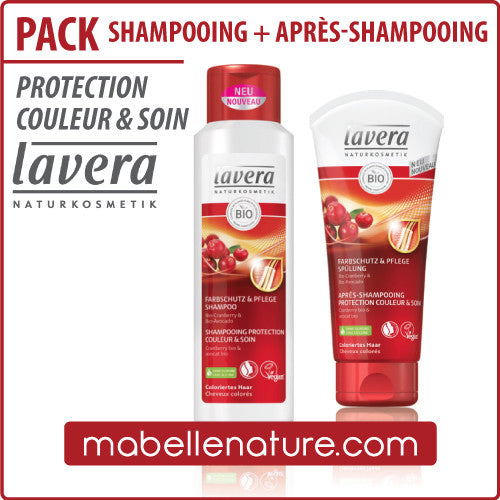 Pack Shampooing + Après-shampooing Protection couleur & soin (Lavera)
