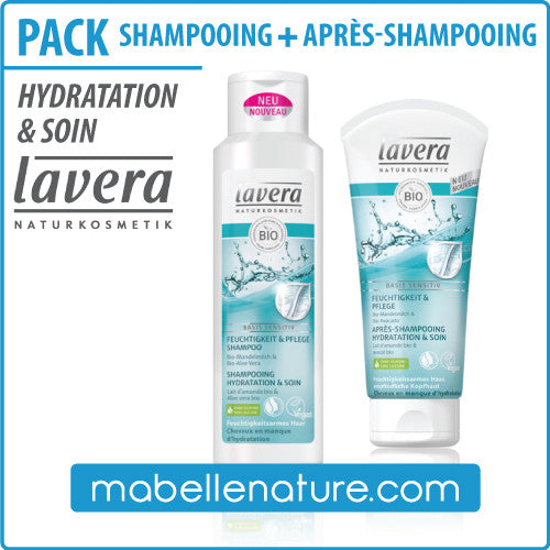 Pack Shampooing + Après-Shampooing hydratation & soin (Lavera)