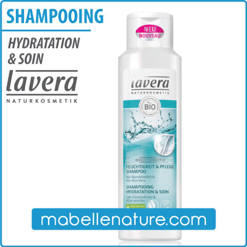 Shampooing hydratation & soin (Lavera, 250 ml) - Ma Belle Nature