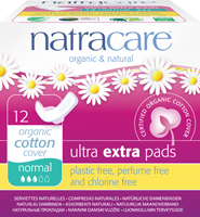 Serviettes ULTRA EXTRA NORMAL en coton bio (12) - Natracare