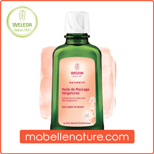 Huile de Massage Vergetures - Weleda (Bio, 100 ml) - Ma Belle Nature