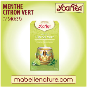 Menthe citron vert - Infusion Yogi Tea - Ma Belle Nature