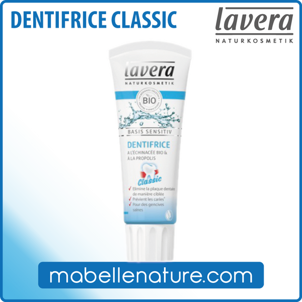 Dentifrice Classic Lavera (75ml) - Ma Belle Nature