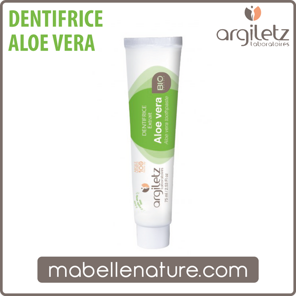 Dentifrice à l'Aloe Vera 75ml (Argiletz) - Ma Belle Nature