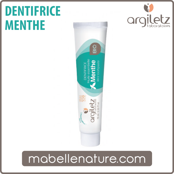 Dentifrice menthe 75ml (Argiletz) - Ma Belle Nature