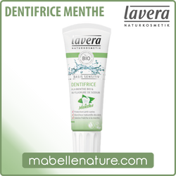 Dentifrice Menthe Lavera (75ml) - Ma Belle Nature