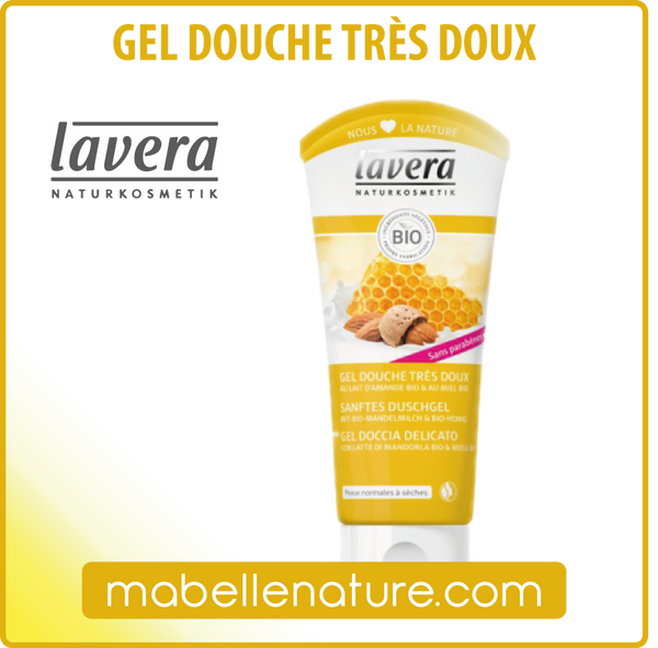 Gel Douche amande bio & miel bio (Lavera, 200 ml) - Ma Belle Nature
