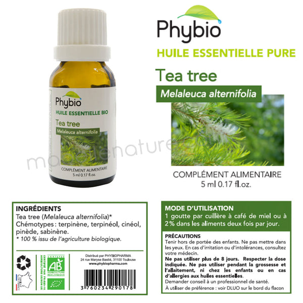 Melaleuque (Tea Tree) Bio (5ml) - Huile essentielle Phybio - Ma Belle Nature