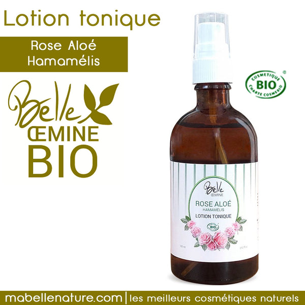 LOTION TONIQUE Oemine « Rose-Aloé-Hamamélis » Bio - Ma Belle Nature