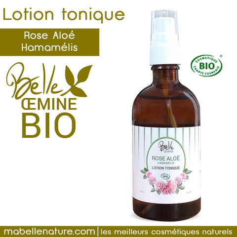 lotion tonique rose aloe hamamelis bio oemine phytobiolab