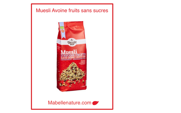 Bauckhof| Muesli avoine fruits sans sucre 450g - Ma Belle Nature