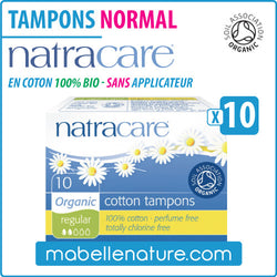 "Tampons ""Normal Mini"" en coton 100% bio avec applicateur (10) - Natracare - Ma Belle Nature"