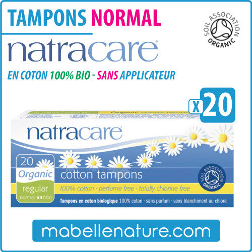 "Tampons ""Normal"" en coton 100% bio sans applicateur (20) - Natracare - Ma Belle Nature"