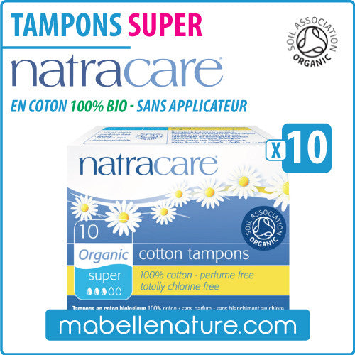 "Tampons ""Super Mini"" en coton 100% bio sans applicateur (10) - Natracare - Ma Belle Nature"