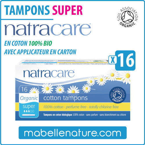 "Tampons ""Super"" en coton 100% bio avec applicateur (16) - Natracare - Ma Belle Nature"