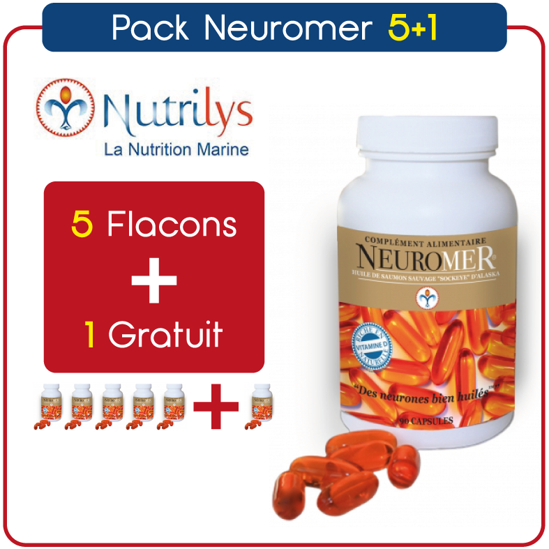 Pack NEUROMER 5+1 Gratuit (Nutrilys) - Ma Belle Nature