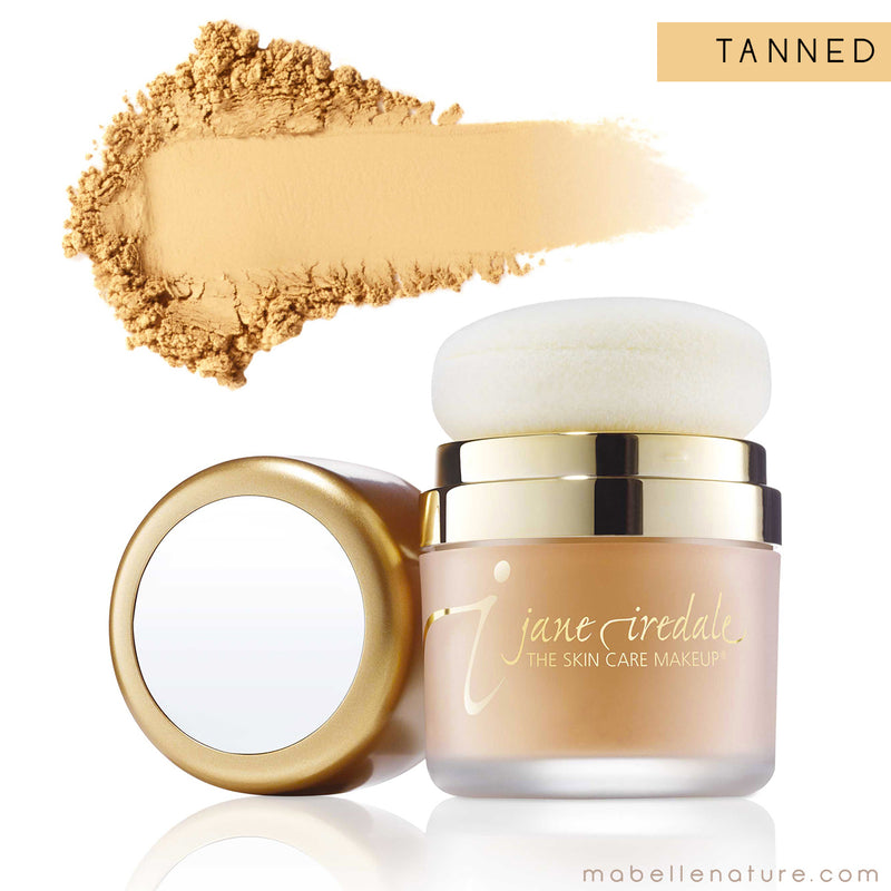 powder me sunscreen jane iredale tanned