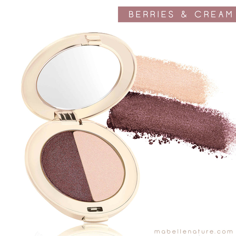 PurePressed Eye Shadow double - Jane Iredale - berries and cream