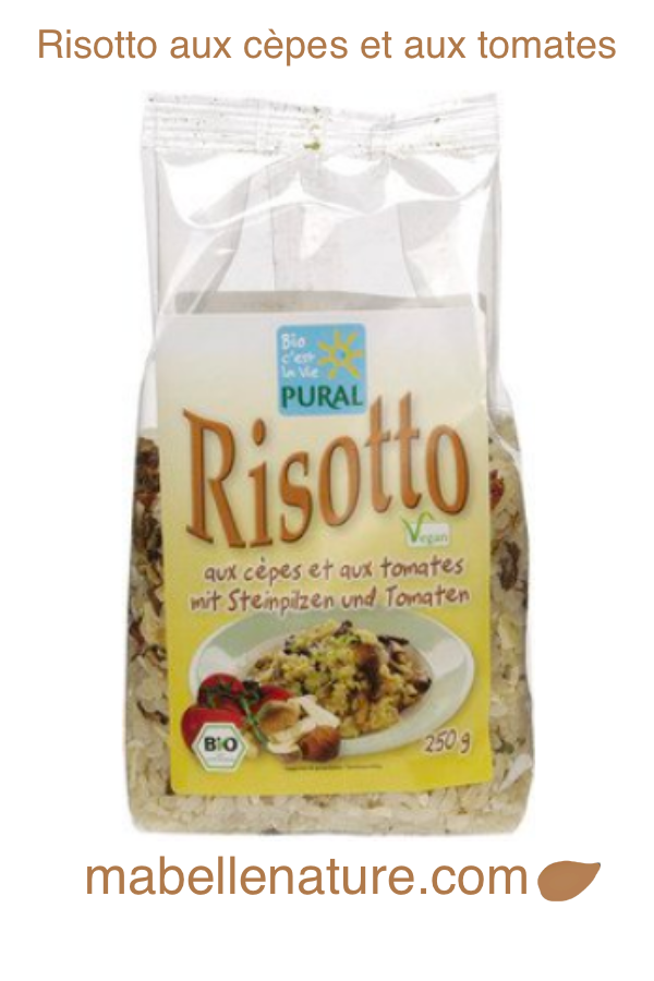 Risotto aux cèpes & tomates | PURAL 250g - Ma Belle Nature
