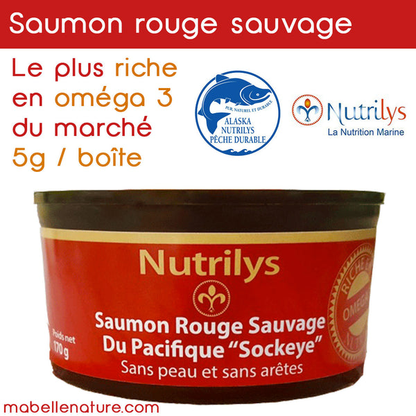 filets de saumon naturel omega 3 nutrilys