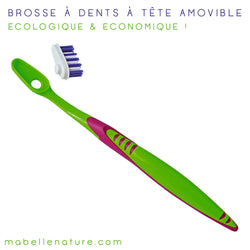 Brosse à dents à tête interchangeable - Yaweco - Ma Belle Nature