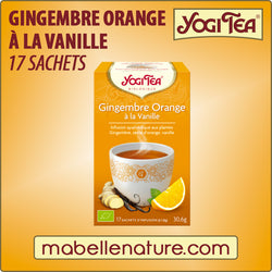Gingembre - Orange à la vanille - Yogi Tea - Ma Belle Nature