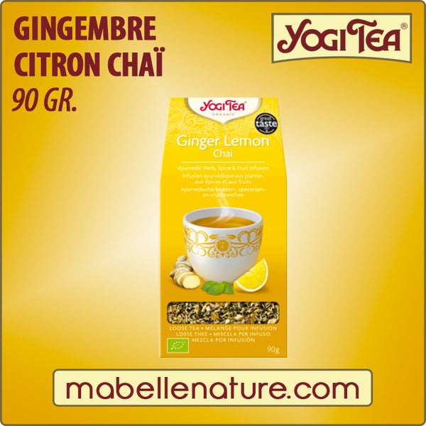 Gingembre - Citron (vrac) - Yogi Tea - Ma Belle Nature