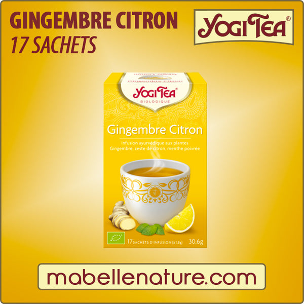 Gingembre - Citron (sachets) - Yogi Tea - Ma Belle Nature