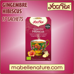 Gingembre - Hibiscus - Yogi Tea - Ma Belle Nature