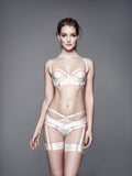 Bordelle Bondage Harness Brief - CREAM