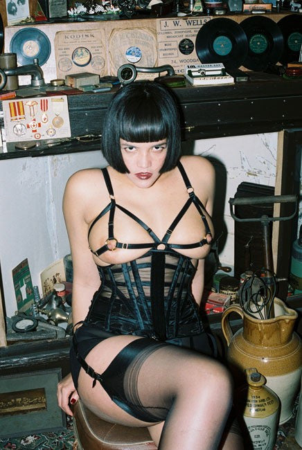The Model Traitor Nipple Ring Cage Bra