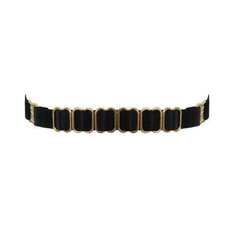 Bordelle Strap Collar - BLACK