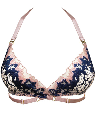 Bordelle Wilde Soft Wrap Bra - ROSE NAVY