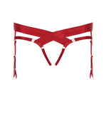 Bordelle Bondage Harness Brief - RED