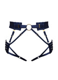 Bordelle Kew Harness Brief - NAVY BLUE