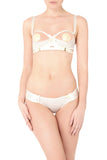 Bordelle Adjustable Webbed Thong - CREAM