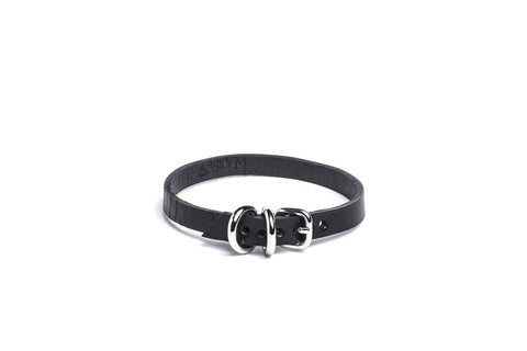 Absidem Double D-Ring Tiny Choker - BLACK