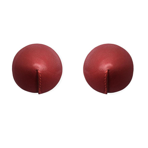 Bordelle Leather Nipplets - RED