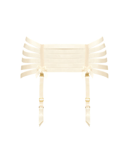 Bordelle Webbed Suspender - CREAM