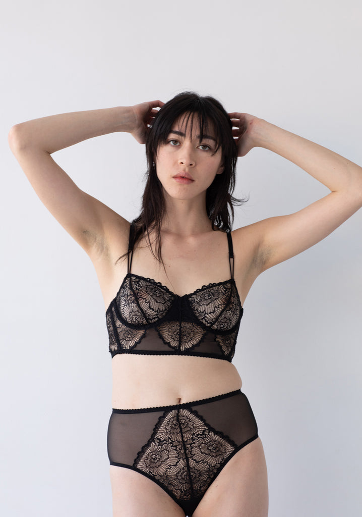 Lonely Cecile Midline Bra BR232 is crafted using a delicate fine mesh