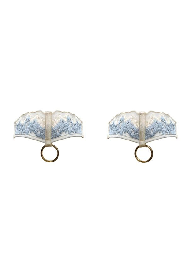 Bordelle Wilde Garters - CREAM BLUE